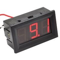 PANEELMETER LED ROOD 0-100VDC 3 DIGIT 3 DRAADS