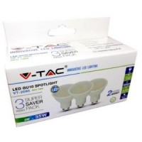 LED LAMP 230V 3000K 5W 320LM GU10 SET VAN 3 STUKS