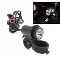 OPBOUW SOCKET 5V/2,1A USB UITGANG, 12VDC VOOR MOTOR