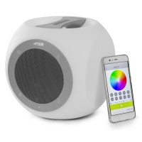 BLUETOOTH SPEAKER MET ACCU RGB LEDS AFSTANDBEDIENING. WATERBESTENDIG