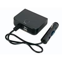 AUTOPLUG SPLITTER 3 VOUDIG MET 5V USB UITGANG EN 30CM KABEL