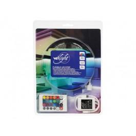 LED STRIP RGB 3M 90 LEDS IP61 ZELFKLEVEND INCL. 12VDC ADAPTER EN CONTROLLER MET AFSTANDBEDIENING