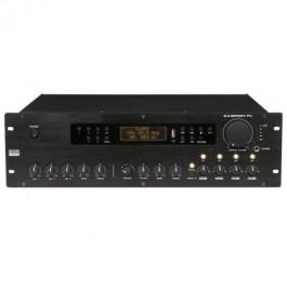 VERSTERKER 100V 250W MET FM TUNER USB EN 4 ZONES EN VOLUMECONTROL