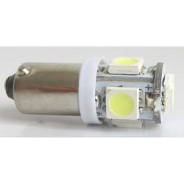 LED LAMP BA9S 12V 1.5W 150LM 6000K 2 STUKS