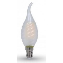 LED LAMP 230V 2700K 4.0W E14 KAARS HELDER MET TIP GEDRAAID
