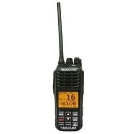 VHF MARINE RADIO MET DSC+GPS ATIS IP67 ZWART FLOAT AND FLASH