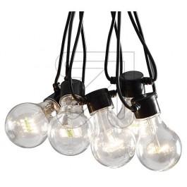 FEESTVERLICHTING LED 19,5M MET 20X LED LAMPEN WIT IP44 MET 24V TRAFO