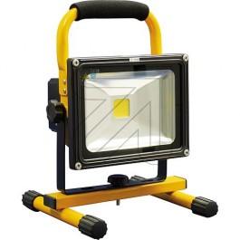 BOUWLAMP LED 20W 1500LM 6000K IP55 MET ACCU, 230VAC EN 12V LADER