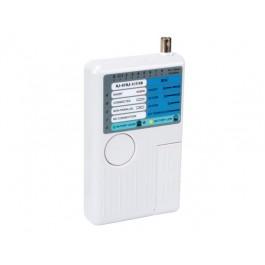 KABELTESTER VOOR RJ10/11/12/45 KABELS EN USB-A, USB-B BNC KABELS
