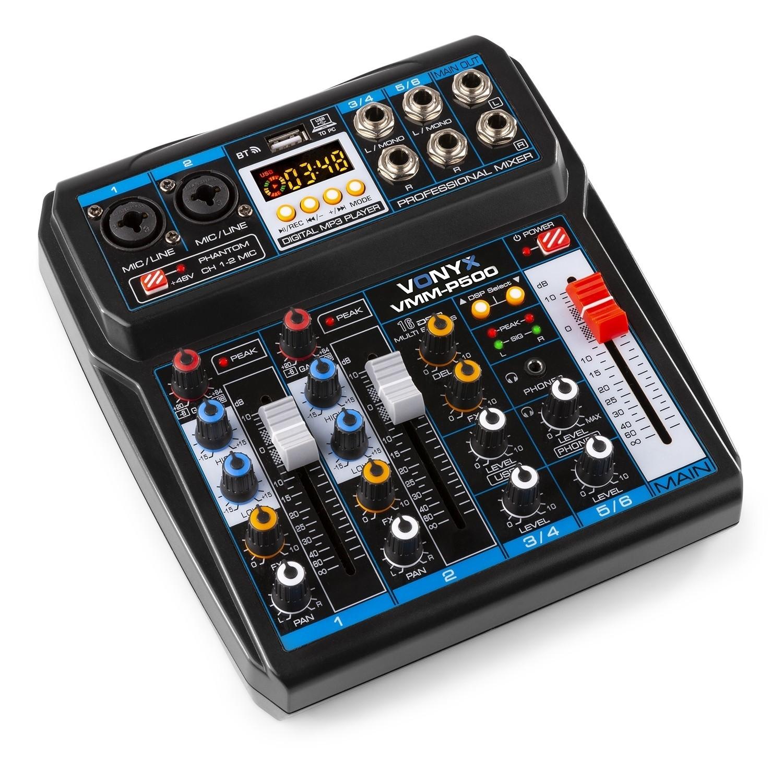 4-KANAALS MIXER DSP/USB/MP3/BT