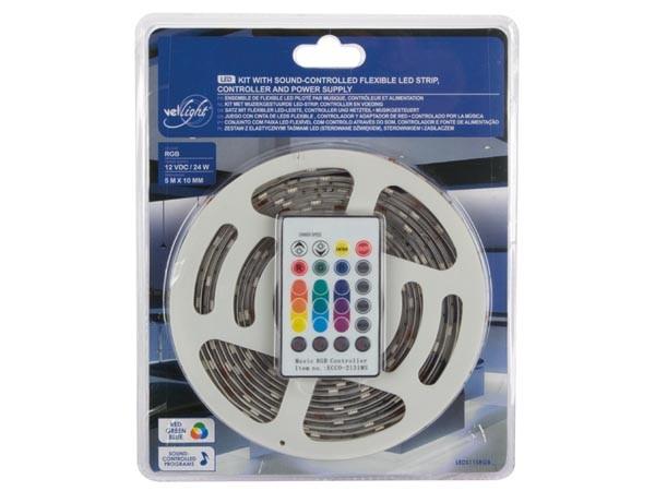 Zelfklevende Led Lampen : Led strip rgb m leds ip zelfklevend incl vdc adapter en