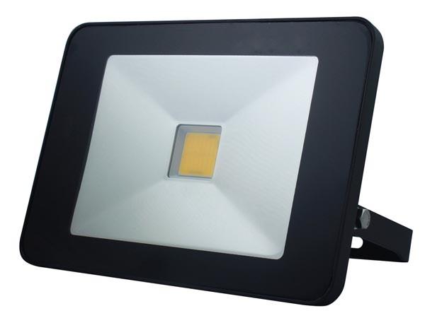 BOUWLAMP LED 50W 3750LM 4000K IP65 230V ZWART MET BEWEGINGSMELDER