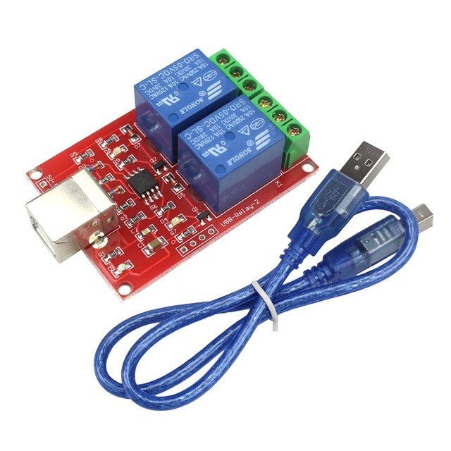 USB RELAIS 2 KANAALS