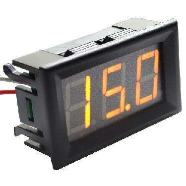 PANEELMETER LED GEEL 0-100VDC 3 DIGIT 3 DRAADS