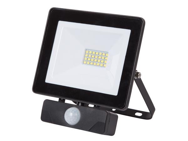 BOUWLAMP LED 20W 1600LM 4000K IP65 230VAC MET PIR