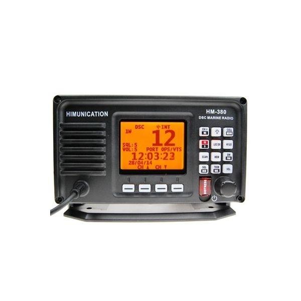 VHF MARINE RADIO MET AIS+DSC+GPS ATIS IP67 ZWART