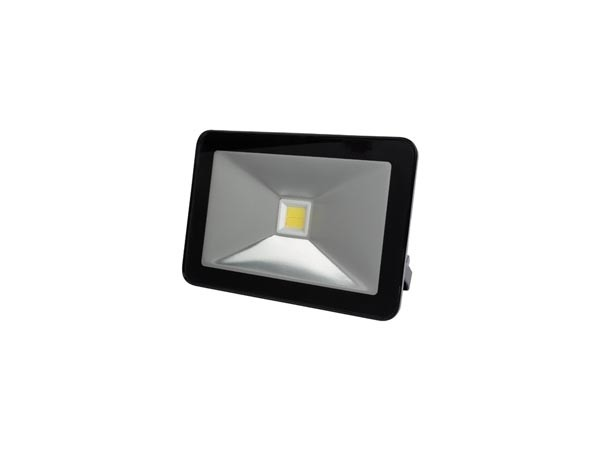 BOUWLAMP LED 10W 750LM 4000K IP65 230V ZWART