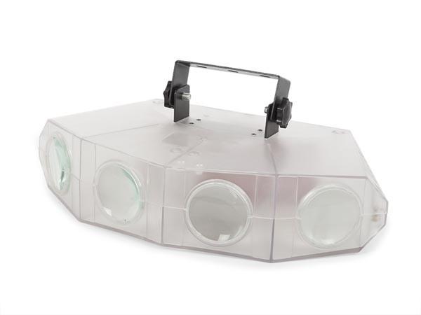 QUAD LED MOONFLOWER - TRANSPARANTE BEHUIZING