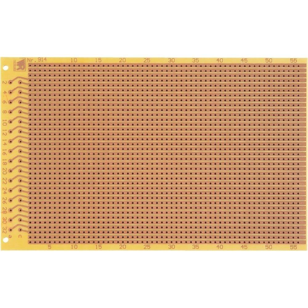 EXPERIMENTEER PRINTPLAAT 100X160MM IC   2.54MM RASTER MET 37P DIN 41617 CONNECTOR PERTINAX 5 STUKS