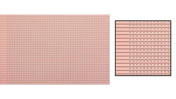 EXPERIMENTEER PRINTPLAAT 100X160MM BAAN 2.54MM RASTER  ENKELZIJDIG PERTINAX 5 STUKS