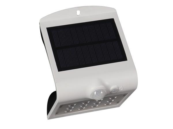 LEDLAMP OP ZONNE-ENERGIE MET PIR-SENSOR - 1.5 W - WIT