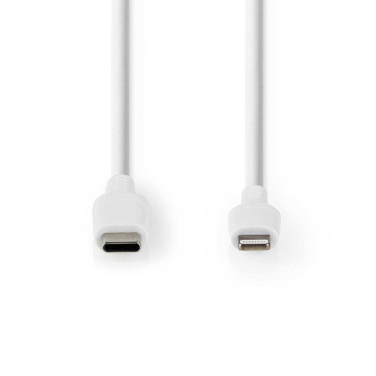 USB-C KABEL MALE/8-PIN LIGHTNING 2.0M