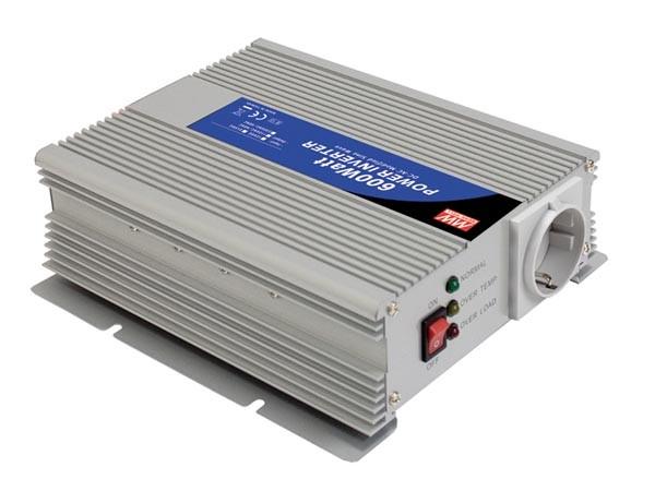 OMVORMER 12VDC-230VAC 600W GEMODIFICEERDE SINUSGOLF