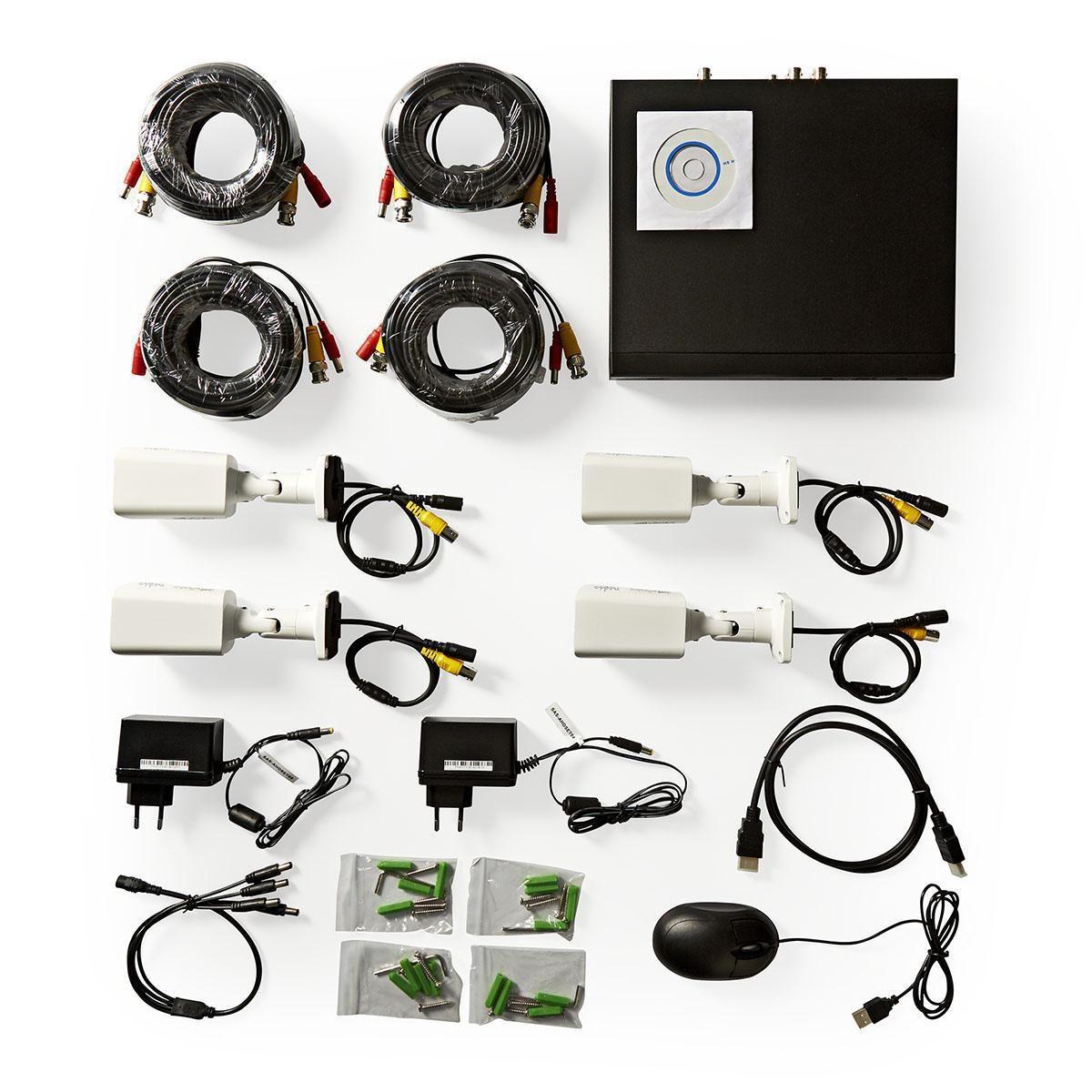 BEWAKINGS SYSTEEM RECORDER FULL HD 1TB + 4 HD CAMERA'S MET KABELD EN VOEDING