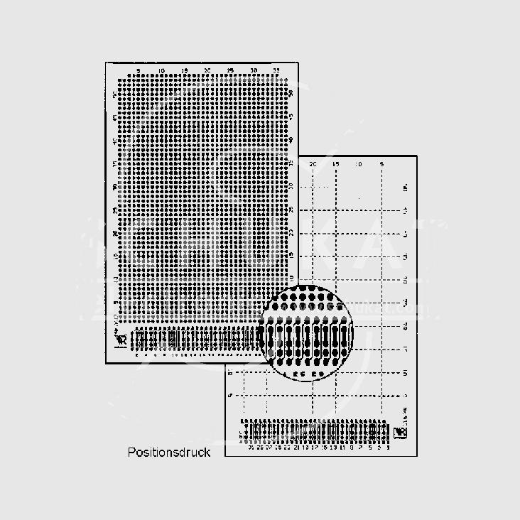 EXPERIMENTEER PRINTPLAAT 100X160MM PUNT 2.54MM RASTER MET DIN 41612 CONNECTOR PERTINAX 5 STUKS