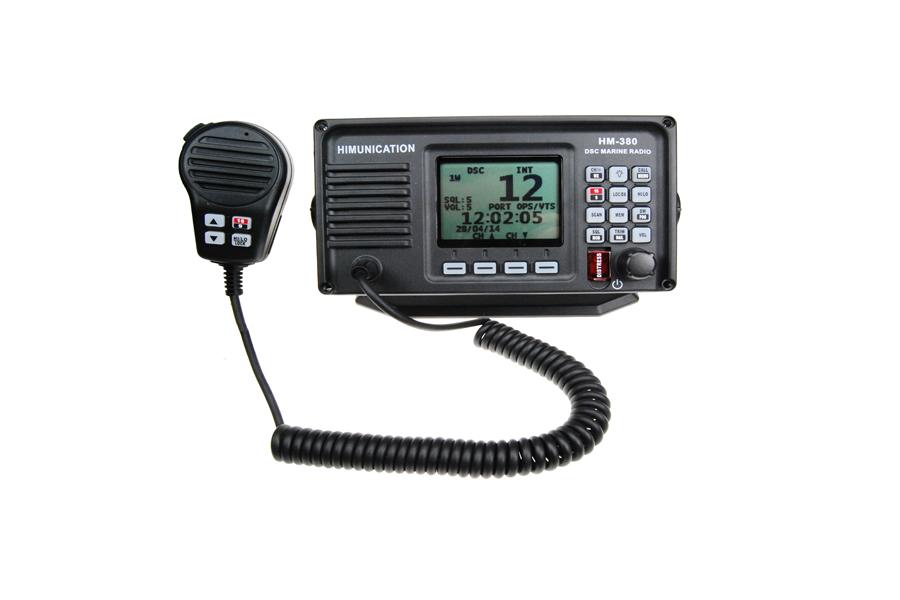 VHF MARINE RADIO MET DSC+GPS ATIS IP67 ZWART