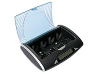 UNIVERSELE SNELLADER/-ONTLADER VOOR NIMH-BATTERIJEN MET LCD-SCHERM EN USB-UITGANG