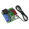 DIGITALE LED THERMOSTAAT MET EXTERNE SENSOR -50C/+110C 12VDC