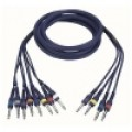6.3MM JACK MALE MONO 8X-6.3MM JACK MALE STEREO 6M IN EEN KABEL