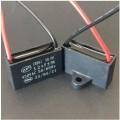 AANLOOPCONDENSATOR 1.0UF/450V~ BLOK MET DRAAD AANSLUITING