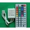 3 KANAALS LED CONTROLLER RGB 12VDC/24VDC 3 X 2A MET IR AFSTANDBEDIENING MET 44 KNOPPEN